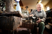 John Marcon has owned the shoe repair shop since 1955.