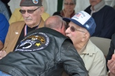 Berdell Hontz receiving thanks for his service to our country