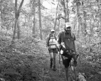 I encountered Christopher & Jamie between Smith's Gap & Wind Gap on July 18th.